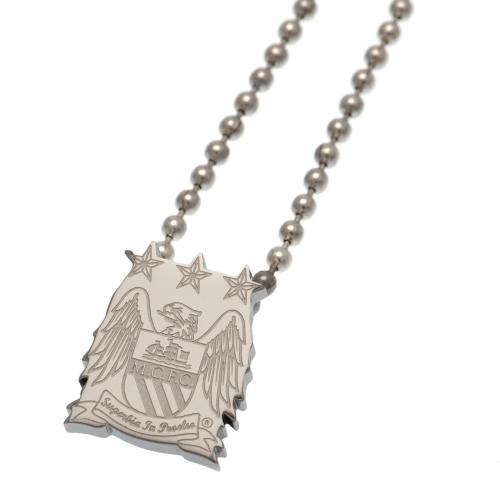 Manchester City FC Stainless Steel Pendant & Chain EC - footballextreme.shop