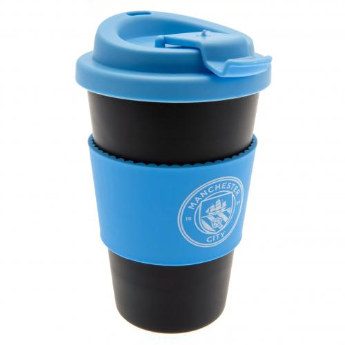 Manchester City FC Silicone Grip Travel Mug - footballextreme.shop