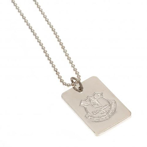 Everton FC Silver Plated Dog Tag & Chain - footballextreme.shop