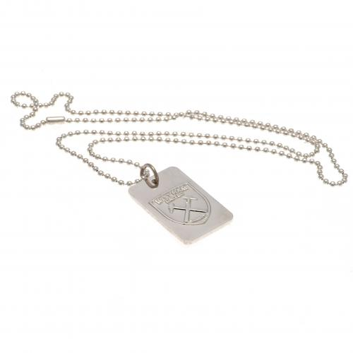 West Ham United FC Silver Plated Dog Tag & Chain - footballextreme.shop