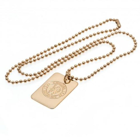Chelsea FC Gold Plated Dog Tag & Chain - footballextreme.shop