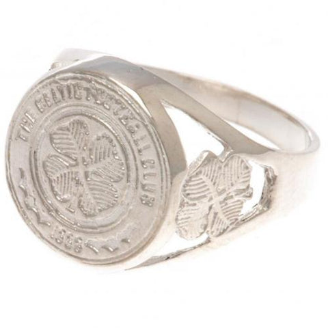 Celtic FC Sterling Silver Ring Medium - footballextreme.shop