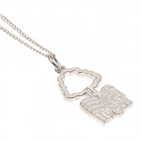Nottingham Forest FC Sterling Silver Pendant & Chain - footballextreme.shop