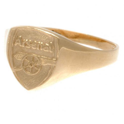 Arsenal FC 9ct Gold Crest Ring Large - footballextreme.shop