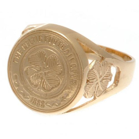 Celtic FC 9ct Gold Crest Ring Medium - footballextreme.shop