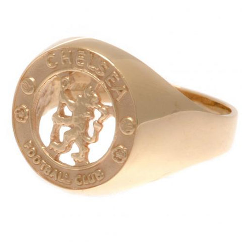 Chelsea FC 9ct Gold Crest Ring Medium - footballextreme.shop
