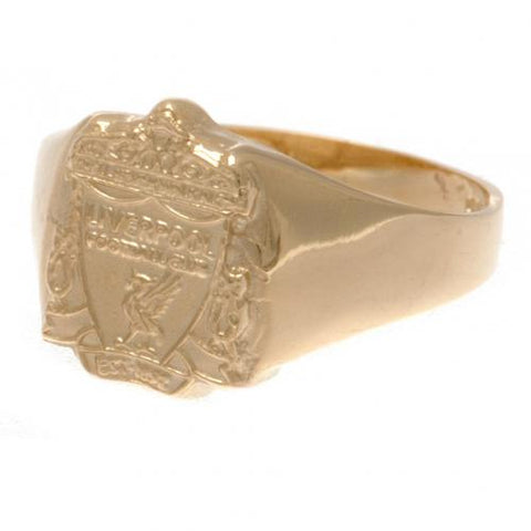 Liverpool FC 9ct Gold Crest Ring Medium - footballextreme.shop