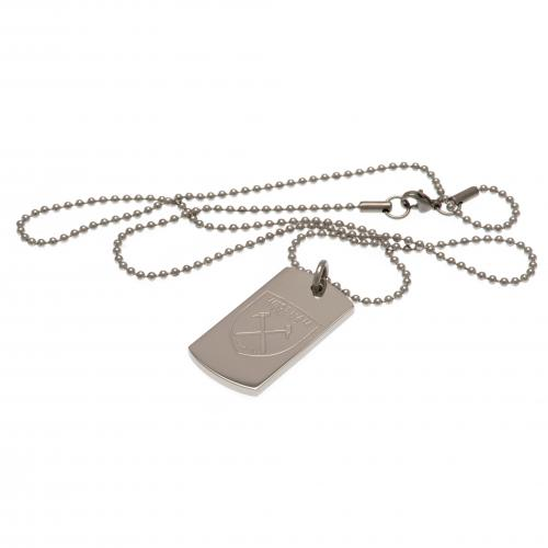 West Ham United FC Engraved Dog Tag & Chain - footballextreme.shop