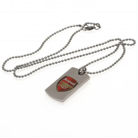 Arsenal FC Colour Crest Dog Tag & Chain - footballextreme.shop