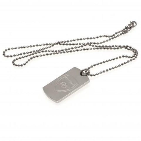 Arsenal FC Engraved Dog Tag & Chain - footballextreme.shop