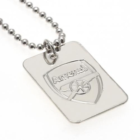 Arsenal FC Silver Plated Dog Tag & Chain - footballextreme.shop