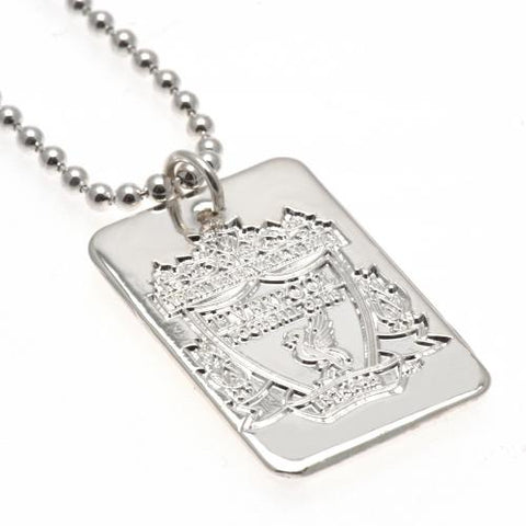 Liverpool FC Silver Plated Dog Tag & Chain - footballextreme.shop