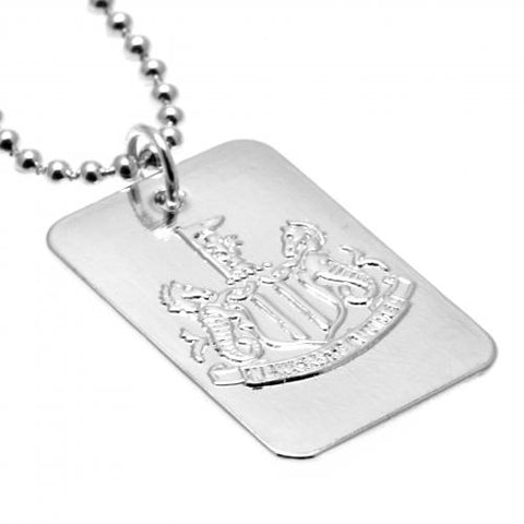 Newcastle United FC Silver Plated Dog Tag & Chain - footballextreme.shop