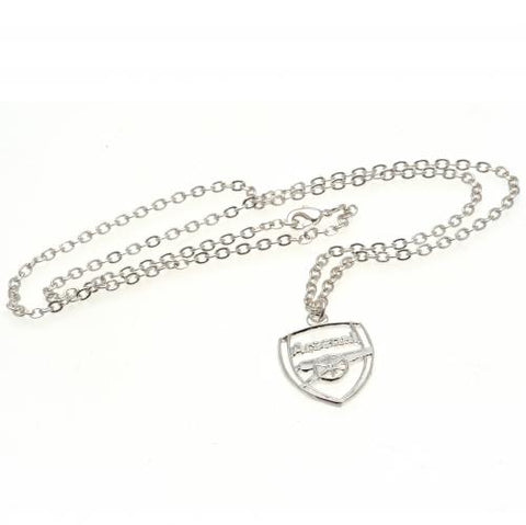 Arsenal FC Silver Plated Pendant & Chain CR - footballextreme.shop