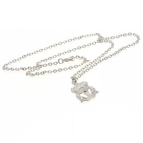 Liverpool FC Silver Plated Pendant & Chain CR - footballextreme.shop