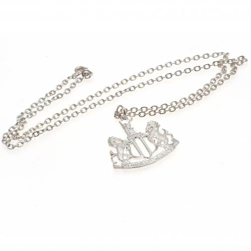Newcastle United FC Silver Plated Pendant & Chain - footballextreme.shop