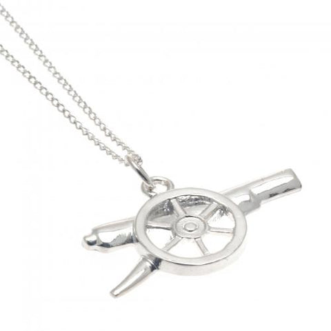 Arsenal FC Sterling Silver Pendant & Chain GN - footballextreme.shop