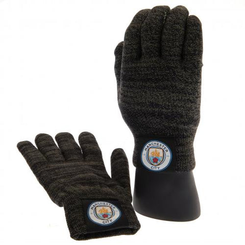 Manchester City FC Luxury Touchscreen Gloves Youths - footballextreme.shop