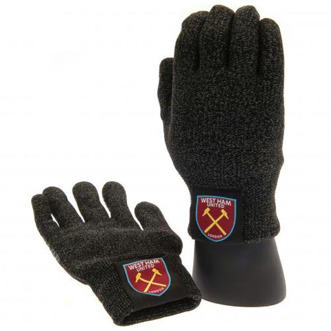 West Ham United FC Luxury Touchscreen Gloves Youths - footballextreme.shop