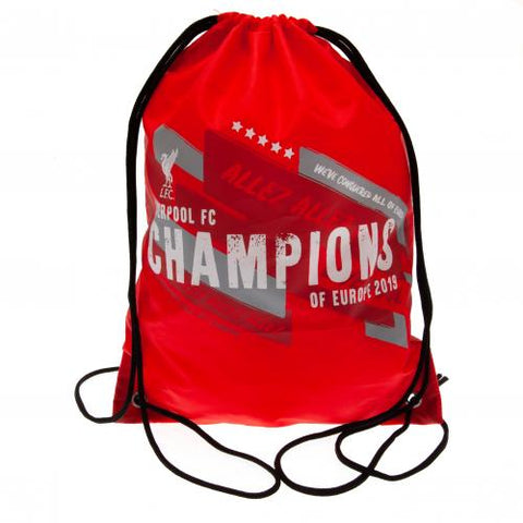 Liverpool FC Champions of Europe Gym Bag - footballextreme.shop