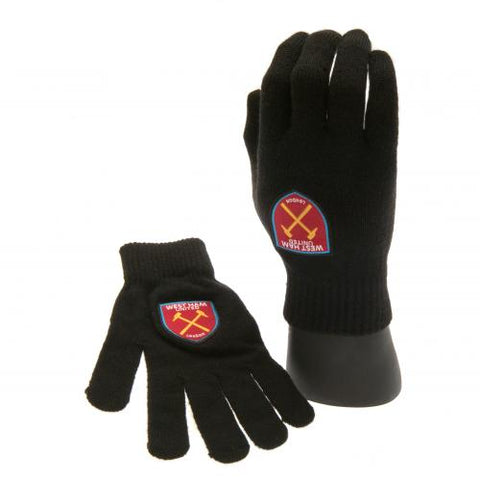 West Ham United FC Knitted Gloves Junior - footballextreme.shop
