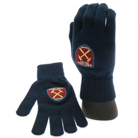 West Ham United FC Knitted Gloves Adults - footballextreme.shop