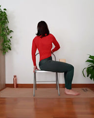 bharadvajasana on chair