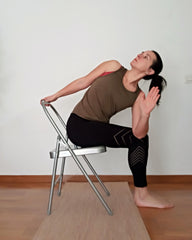 pasasana variation on chair