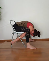 Turtle Pose on chair