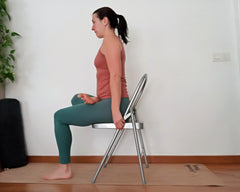 padmasana variation on chair