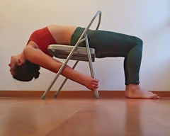 gentle back bend on yoga chair
