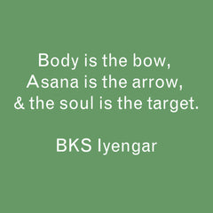 Iyengar yoga quote