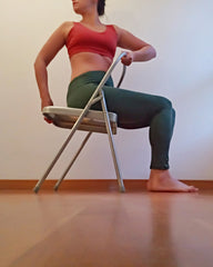 yoga chair twist