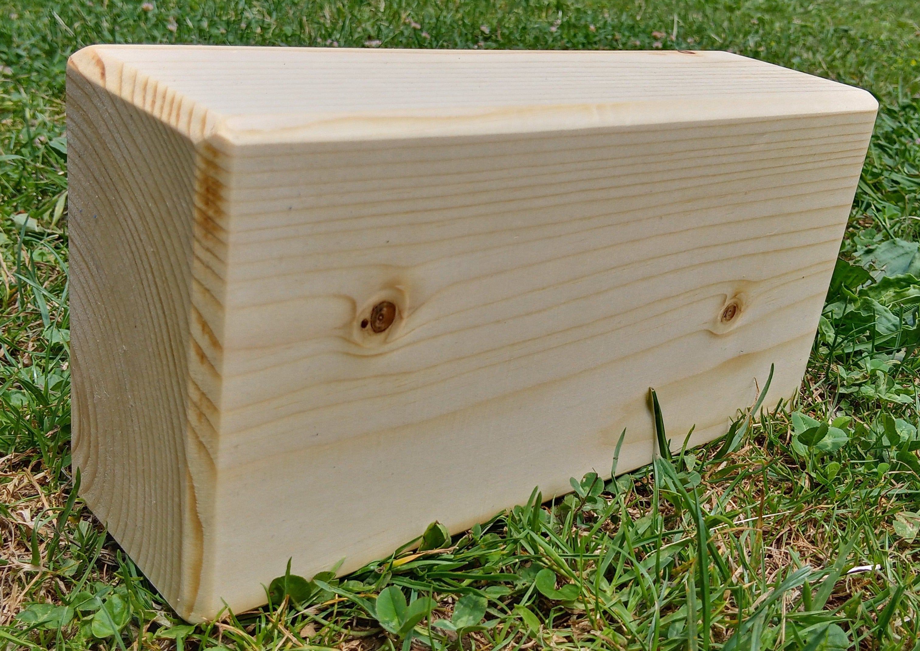 spruce wood yoga brick