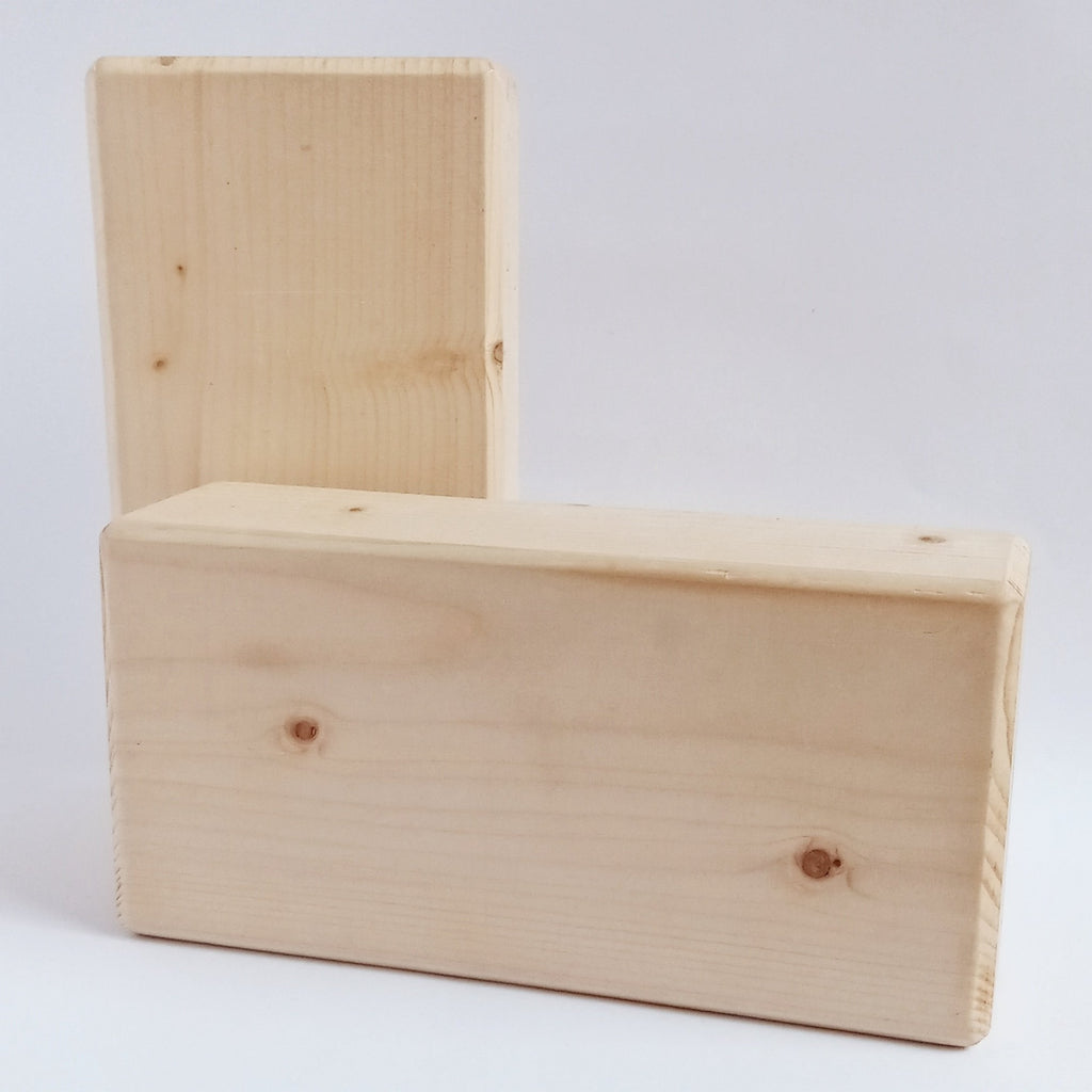 organic wooden yoga block