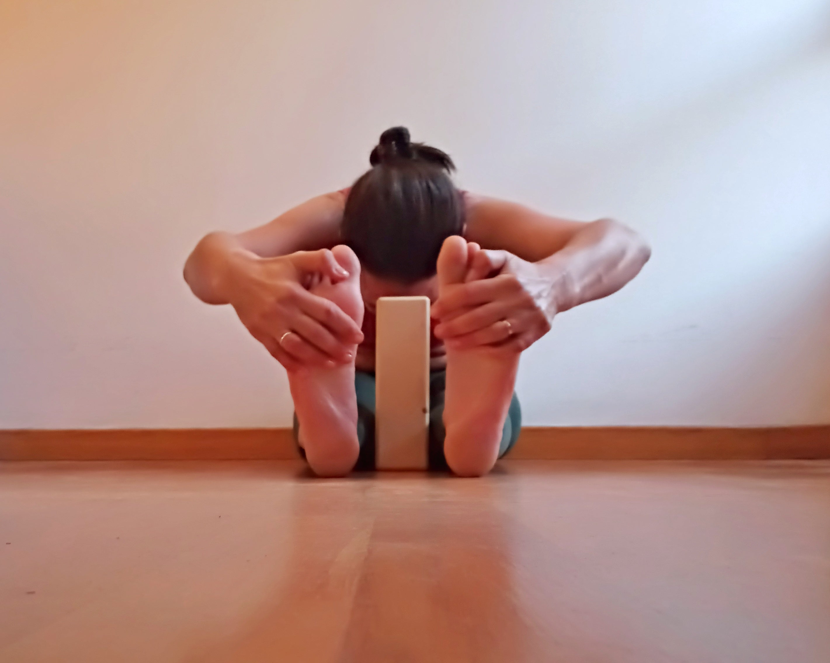 yoga pose with block