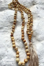 Natural Açai Beads Japa Mala - Yoga Meditation Necklace