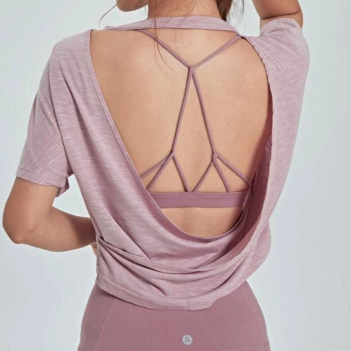 Yoga Tank Top Wide Open Back