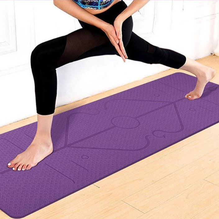 yoga mat with lines