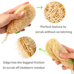 Eco Kitchen Sponge New Pure Handmade Multilayer Natural Loofah Scrubber Anti-oil Dish Cleaning Brush