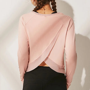 Loose Mesh Long Sleeve Yoga Top