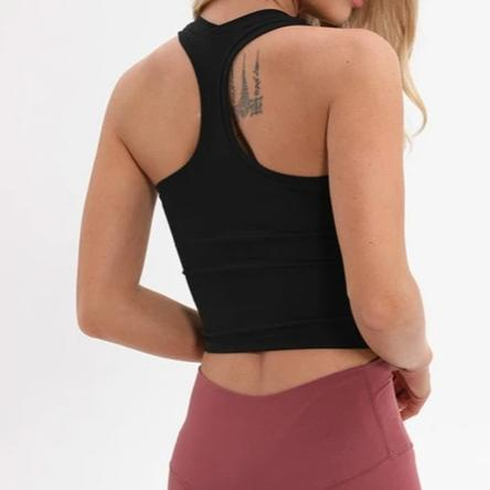 racerback crop yoga top