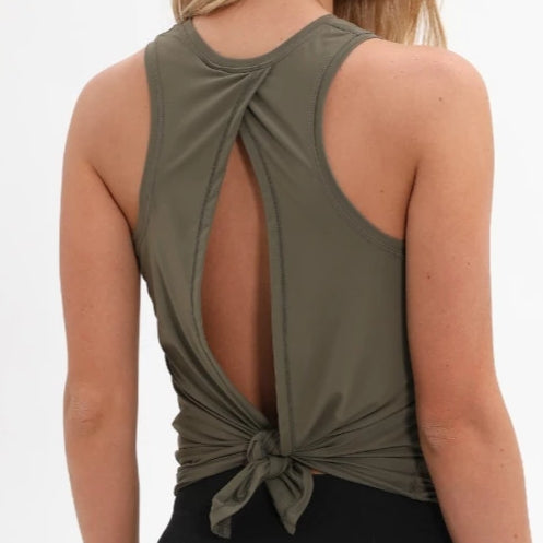 Yoga Tank Top with Open Back