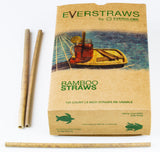 Everglobe organic bamboo straws 50 & 100 pack handcrafted & biodegradable 5 and 8 inch | Reusable drinking straws - Everglobe Corporation