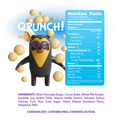 Quntu Mini Kids Qrunch Chocolate Covered Quinoa Bites and Gluten Free | 6 Count | 7.40 oz - Everglobe Corporation