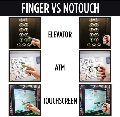 Guard Dog Security NoTouch Door Opener - Antimicrobial Hand Tool - NOW with Stylus - - Everglobe Corporation