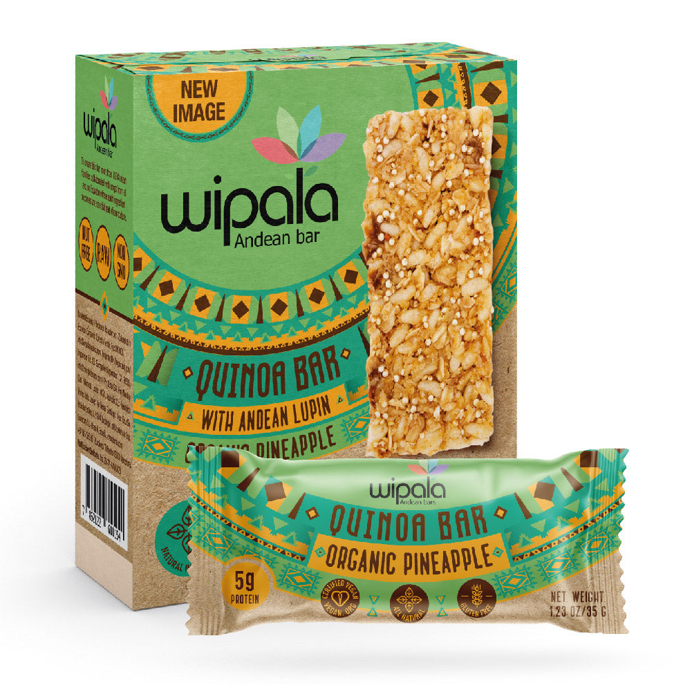 Wipala Pineapple Flavored Andean Bar | Display Box of 12 bars