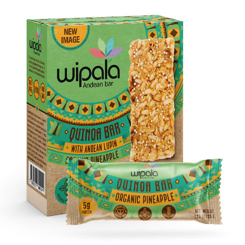 Wipala Pineapple Flavored Andean Bar | Display Box of 12 bars - Everglobe Corporation