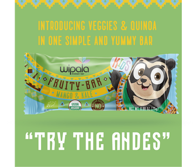Wipala Kids Fruity Bar with No sugar added and USDA Organic Certified | 12 Count - Everglobe Corporation