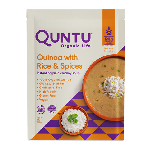 Quntu Quinoa Instant Creamy Soup | Gluten Free, Vegan, and Non-GMO. 2.82 oz per packaging, 70 Calories - Everglobe Corporation